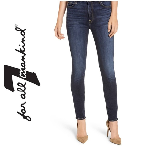 7 For All Mankind Denim - 7 for All Mankind High Waist Skinny Jeans